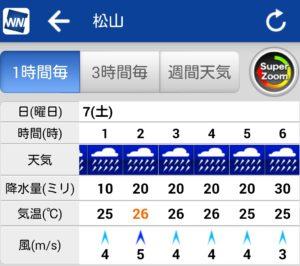 松山市豪雨
